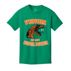 Venom Is My Super Power green youth t-shirt