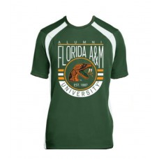 Alumni Florida A&M University Est 1887 Performance Tee (Women - Green)