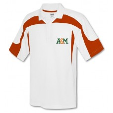 A&M Ladies white and orange polo